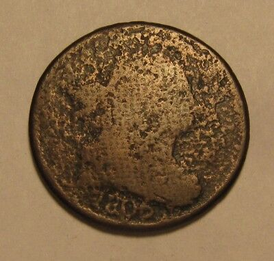 1806 Draped Bust Half Cent Penny - Corroded Condition - 8SU-2