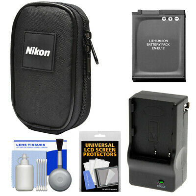 Nikon Coolpix Digital Camera Case + Battery Kit for AW110 AW120 P340 S9500 S9700