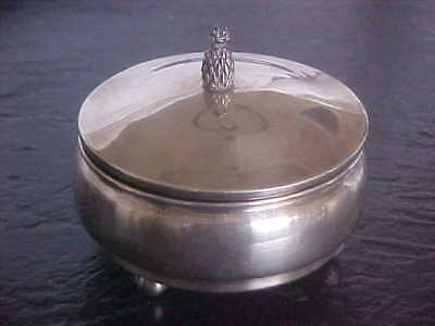 Antique Cartier France Sterling Silver keepsake Box Ball Feet Pineapple Finial