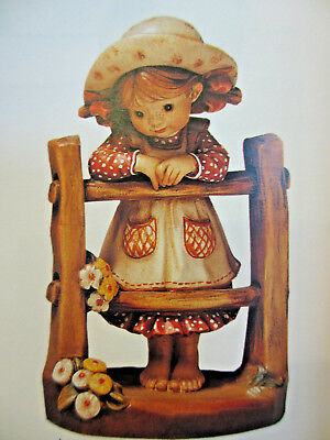 """Anri Sarah Kay """"PENNY FOR YOUR THOUGHTS"""" #653085 NIB  6"""" Wood Carved Italy LE KH"""