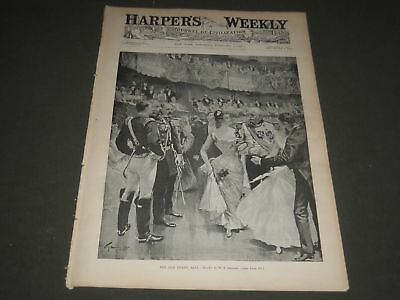 1892 February 6 Harper's Weekly Magazine - The Old Guard Ball By Smedley - H 811