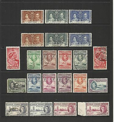 Gold Coast (Ghana) ~ 1937-49  King George Vi Small Collection