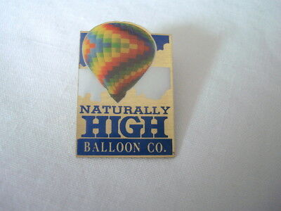 Naturally High Balloon Co Pin Blue 1990s Goldtone NM New Mexico Rally US Seller