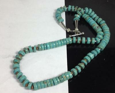 """18.5"""" light turquoise color Howlite heishi necklace//g248-w1)"""
