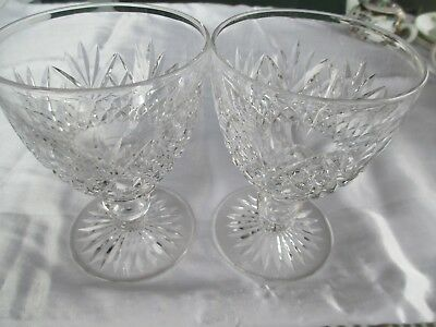 2 X Beautiful Stuart Crystal Wine Glasses Approx 12 1/2Cm X 7 1/2Cm