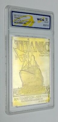 TITANIC Gold Card Ocean Liner Limited Edition Photo Cruise Sea Navy Ship Captain