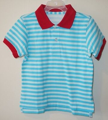 New Kelly's Kids Connor Clearwater/Scuba Stripe Polo Shirt Boy's Sz 12 Month