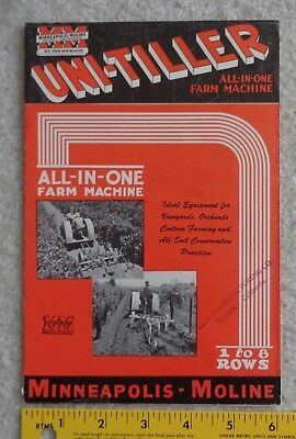 "Minneapolis Moline ""Uni-tiller All-in-one Farm Machine"" 4 pg. Brochure"