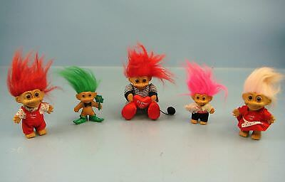 vintage valentine troll doll with heart trinket box by russ berrie