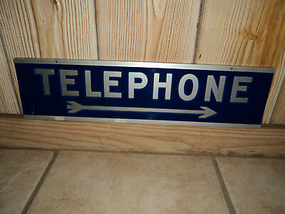 Vintage Pay Telephone Hanging Sign with Arrow Rare!!