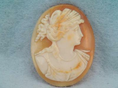 Gorgeous Antique Victorian Hand Carved Female Cameo Very Ornate $9.99