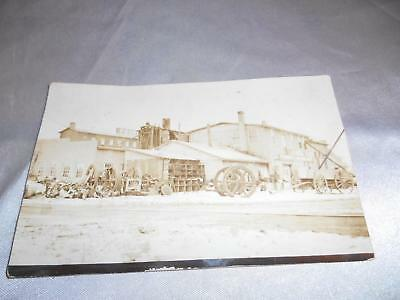 Antique FOUNDRY Real POSTCARD RPC Factory Old Vtg Picture Photo