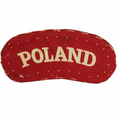 WW2 Free Polish Forces, Army In Exile PRINTED Cloth POLAND Shoulder Title Badge