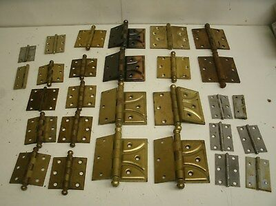 Lot of Vintage Door Hinges Antique Salvage Hardware (A)