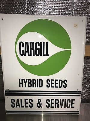 "Cargill Seed Hybrid Farm 24"" X 30"" Metal Sign feed grain elevator dealer corn"
