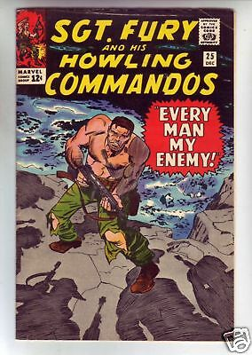 Sgt. Fury #25 and His Howling Commandos Strict VF Huge run 30pct BV$41 Red Skull