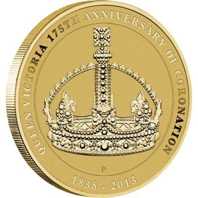 2013 Australia $1 UNC Coin, Queen Victoria 175th Anniversary of Coronation