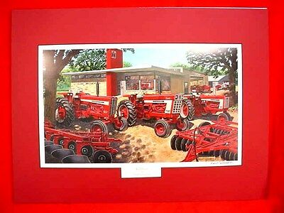 "Russell Sonnenberg International Tractor  Print ""red Fever"" - Matted - Signed"