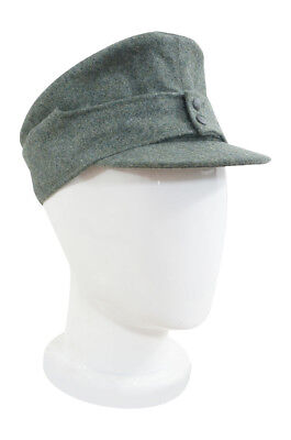 WWII German Mountaineer(Gebirgsjäger) EM field cap small visor field grey M