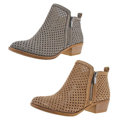 Lucky Brand Jeans Basel 3 Women's Perforated Ankle Booties Boots
