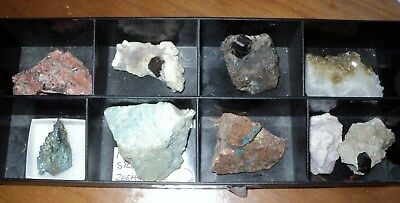 Set Of 9 Minerals Specimens For Clearance Good For Markets And Fetes.