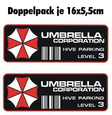 Resident Evil Umbrella Corporation Sticker Auto Aufkleber Car Hive Parking 16cm