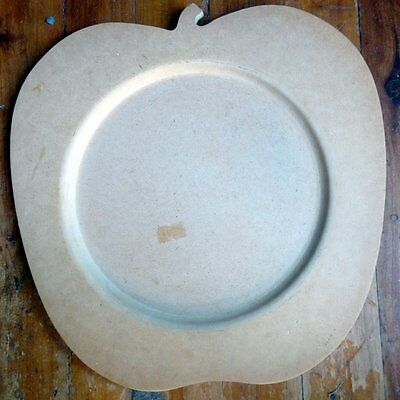WOODEN SHAPES  - CRAFTWOOD APPLE SHAPED PLATTER 28cms