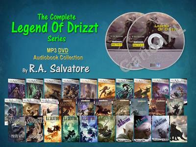 The Complete LEGEND OF DRIZZT Series By RA Salvatore (33 MP3 Audiobooks)