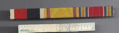 #4 WW2 Orig Lot of 3 Diff RIBBONS on bar WWII Clutch Pin US Army Medal Military
