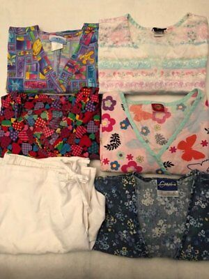 Mixed Lot Of Medical Scrubs Tops And Pants Size Large