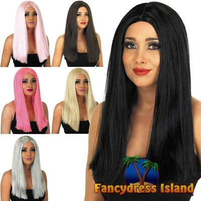 Long Straight Wig Glamour Straight Disco Party Women's Fancy Dress Costume