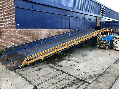 Lantern Container Loading Ramp For forklifts 10T Rated height adjustable