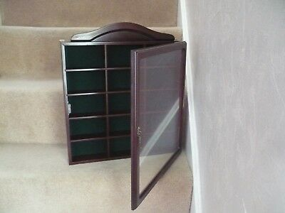 A Beautiful Large Wooden Display Cabinet With Glass Front A Superb Looking Item