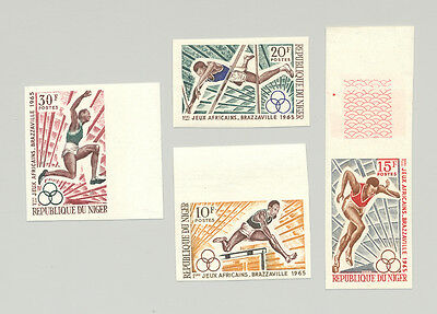Niger #159-162 Sports, Track & Field 4v Imperf