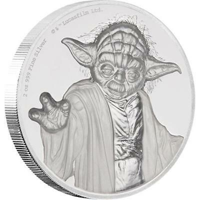 Niue 5 Dollar 2018 Star Wars Yoda (3.) 2 Oz Silber PP Ultra High Relief