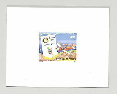 Djibouti #509 Rotary, Aviation, Airplane 1v Deluxe Sheet