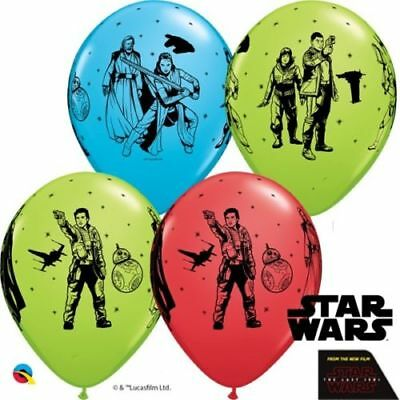 Star Wars The Last Jedi 11 Inch Helium Quality Bright Colour Party Balloons