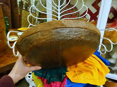 Antique Primitive Wooden Treen Bowl