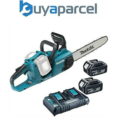 Makita DUC353PT2 Twin 18v / 36v LXT Cordless 35cm Chainsaw DUC353 2 x 5.0ah