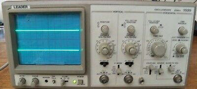 Leader 2 Channel 20 MHz Oscilloscope Model 1020 New Probe, Manual & Power Cord
