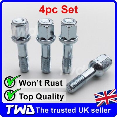 4 x ALLOY WHEEL BOLTS FOR MERCEDES BENZ C-CLASS (1993-07) W202 W203 NUTS [4MB]