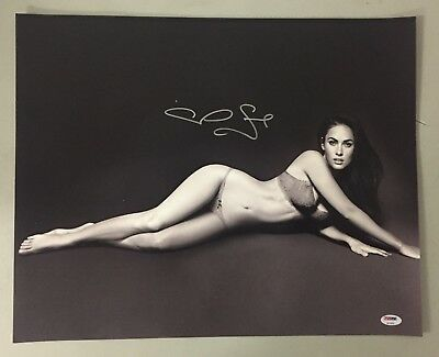 Megan Fox Signed 16x20 Photo Autograph AUTO PSA/DNA Sticker Only