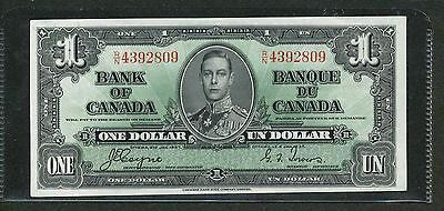 1937 Bank of Canada $1. Choice Uncirculated BC-21d. RN 4392809.