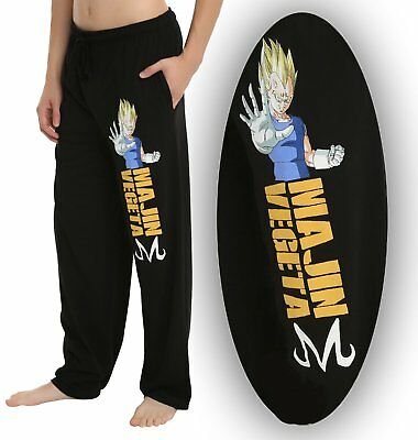 Mens Womens NEW Dragon Ball Z Majin Vegeta Black Pajama Lounge Pants Size S-2XL