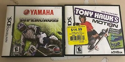LOT of 2 Nintendo DS games tested and working, as pictured. Tony Hawk etc!!!!