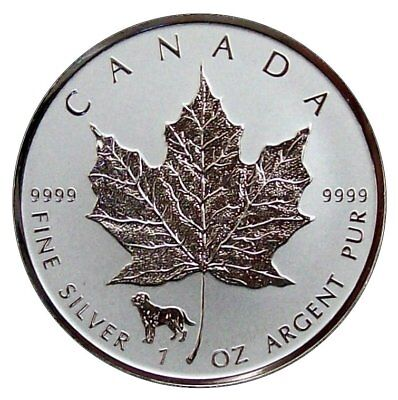 ++ Maple Leaf 2018 - Privy Hund - 1oz Ag / Silber - 5 CAD ++