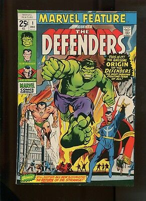 Marvel Feature #1 (8.0) 1St Appearance Of The Defenders!