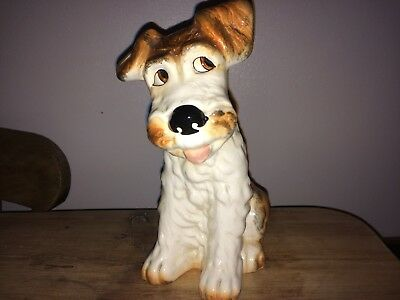 Beautifully Crafted Large Ceramic Sylvac Figure Of A Terrier Dog