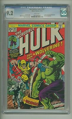 Incredible Hulk 181 (CGC 9.2) White pages; 1st full app. Wolverine (c#17329)