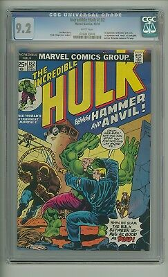 Incredible Hulk 182 (CGC 9.2) White pages; 1st app. Hammer and Anvil (c#17330)